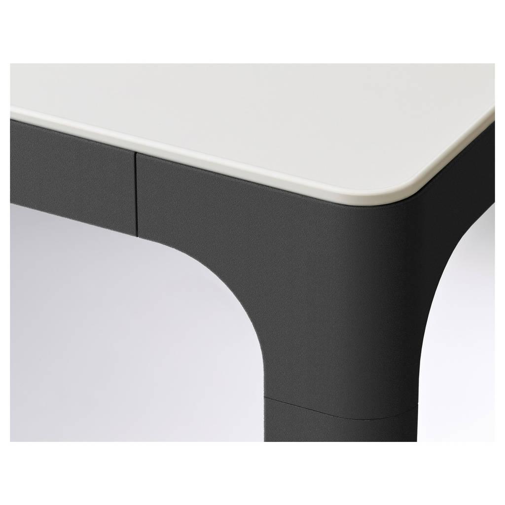 BEKANT Стол для совещаний, белый, черный