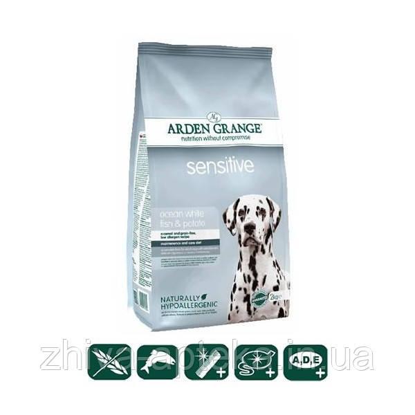 Sensitive корм для собак океаническая белая рыба и картофель 2кг