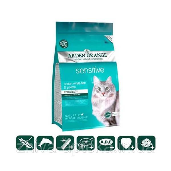 Sensitive Корм для кошек с деликатным желудком и/или чувствительной кожей с рыбой и картофелем беззерновой 0,4