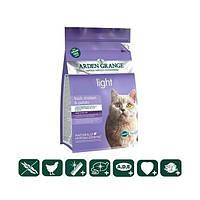 Корм беззерновой для взрослых кошек диетический, низкокалорийный со свежей курицей и картофелем 0,4кг