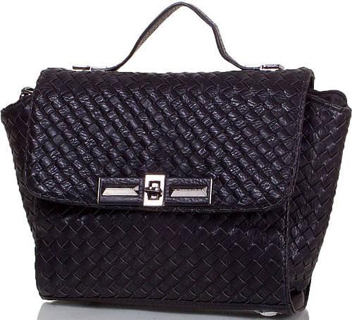 Оригинальная женская сумка из качественной искусственной кожи ANNA&LI (АННА И ЛИ) TU14476-black (черный)