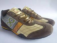 Подростковые кросовки замшевые(brown)