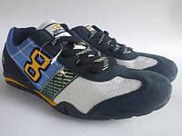 Подростковые кросовки замшевые(blue)