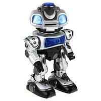 Интерактивный робот Электрон ТТ903А: свет, голосовое управление, стреляет, коробка 41х29х19 см