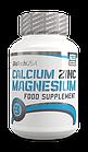 Комплекс микроэлементов Сa-Mg-Zn Calcium Zink Magnesium (100 таб.) BioTech USA, фото 2