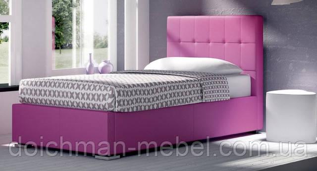 Ліжко двоспальне з м'яким узголів'ям