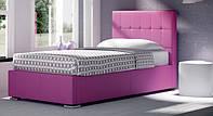 Кровать двуспальная с мягким изголовьем