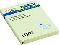 Блок post-it 102*76 мм, 100 листов, желтый. BuroMax