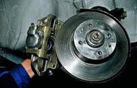 Замена задних тормозных колодок (дисковые тормозные механизмы)