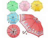 Зонтик детский mk 0355 (60) длина47,5см,трость59см,диам.76,5см,спица44см,ткань,рисун,5видов,
