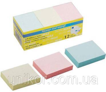 Блок post-it 38*51 мм, 100 листов, mix. BuroMax