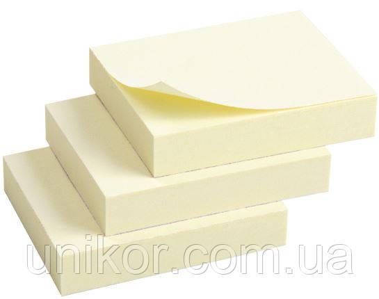 Блок post-it 40*50 мм, 100 листов, 3 шт./уп. желтый. AXENT