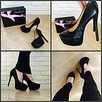 Эффектные туфли в стиле лабутены в наличии по супер цене