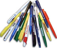 Ручки шариковые, стержни