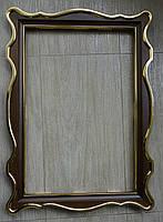 Киот для иконы фигурный с внутренней деревянной рамой и покрытыми поталью штапиками., фото 3