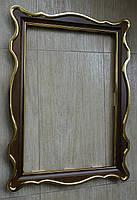 Киот для иконы фигурный с внутренней деревянной рамой и покрытыми поталью штапиками., фото 4