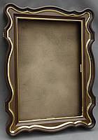 Киот для иконы фигурный с внутренней деревянной рамой и покрытыми поталью штапиками., фото 2