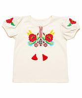 Блузка вышиванка школьная для девочки