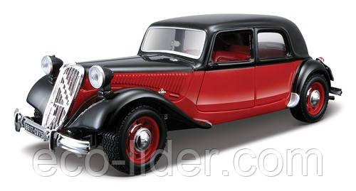 Автомодель - CITROEN 15 CV TA (1938) (ассорти черный, красно-черный, 1:24)