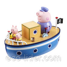 Игровой набор Peppa - МОРСКОЕ ПРИКЛЮЧЕНИЕ (кораблик, 3 фигурки)