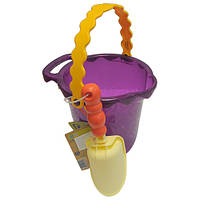 Набор для игры с песком и водой - ВЕДЕРЦЕ С ЛОПАТКОЙ (цвет сливовый)