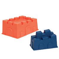 Набор для игры с песком и водой - ПОСТРОЙ ЗАМОК (2 пасочки-замка, цвет папайя и океан)