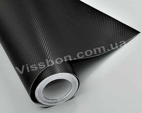 ПЛЕНКА ПОД КАРБОН 3D CX Черная (крупная текстура) 1.52м - ЧП «Карбон» в Днепре