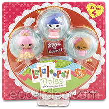 Набор с куклами КРОШКАМИ LALALOOPSY -  ЮКИ САКУРА И ПРИНЦЕССА (2 куклы, питомец)