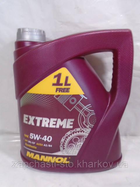 Масло 5W40 MANNOL Extreme SN 4л