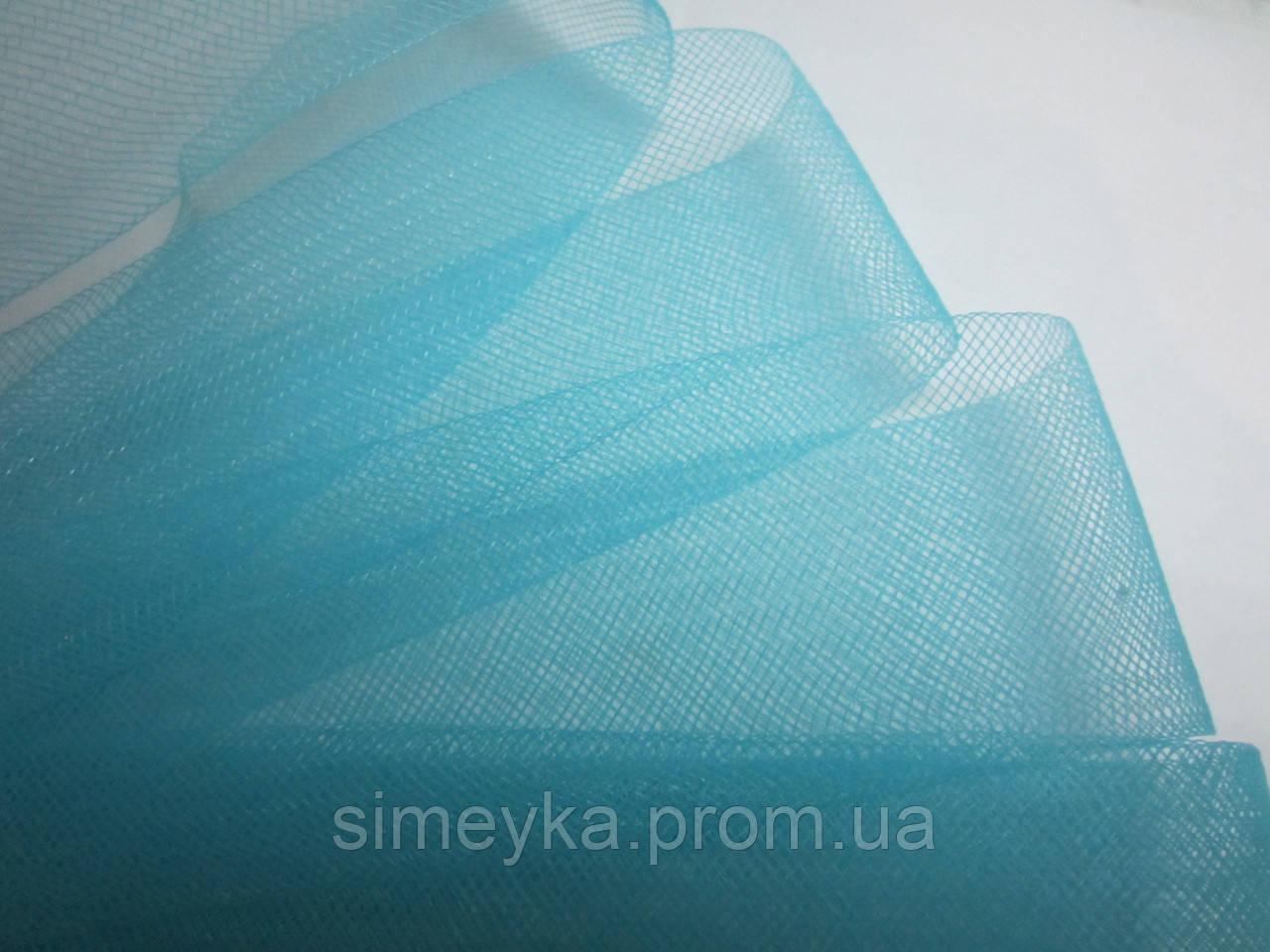 Регилин мягкий (кренолин) плоский 5 см бирюзовый (голубой)