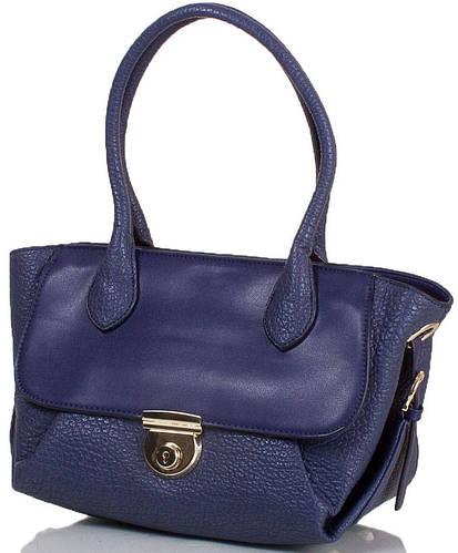 Синяя женская сумка из искусственной кожи ANNA&LI  (АННА И ЛИ) TU14118L-navy (синий)