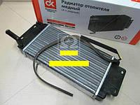 Радиатор отопителя КамАЗ (2-х рядн.) (пр-во ДК Украина) (размеры длина полная 45см, ширина 18см, высота сот - 52мм, высота радиатора с трубкой 104мм)