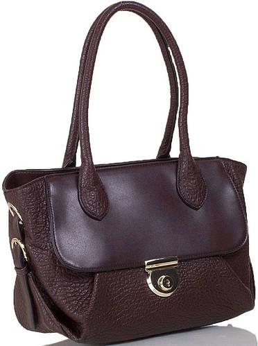 Коричневая женская сумка из искусственной кожи ANNA&LI  (АННА И ЛИ) TU14118L-brown (коричневый)