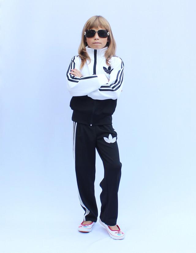 - детский спортивный костюм с цветным верхом - белый -