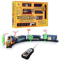 Детская железная дорога 0620: радиоуправление, свет, музыка, аксессуары, коробка 53х31х7 см