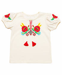 Вышиванка для девочки с коротким рукавом оптом