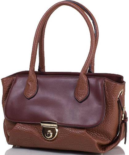 Женская качественная сумка из искусственной кожи ANNA&LI  (АННА И ЛИ) TU14118L-khaki (коричневый)