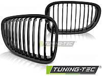 Решетка радиатора ноздри тюнинг BMW F01 F02 черный глянц