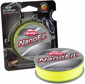 Шнур Berkley Nanofil Chartreuse (лимонно-желтый) 0,04мм; 1.964кг; 270м