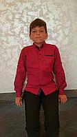 Красивая подростковая рубашка на мальчиков размеры: 146,152,158,164,170 роста