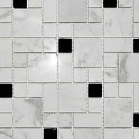 Белая мраморная мозаика Vivacer RS77
