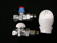 """Комплект для подключения радиаторов 1/2"""" прямой c терморегулятором Giacomini (R470X001+R402X133+R15X033)"""