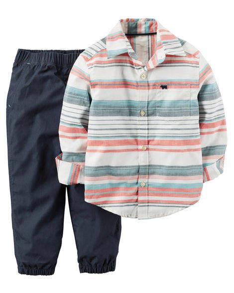 Набор из 2-х частей Carters. Штаны и рубашка