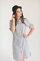 Платье-рубашка серое, фото 1