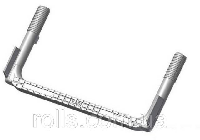 SCSS Скоба опорная ходовая противоскользящая для колодцев, 25*152*327мм сталь футерованная пластиком (Чехия)