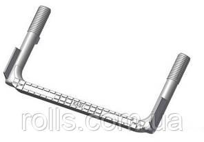 Скоба SCSS ходовая опорная противоскользящая для колодцев, стальная футерованная пластиком 25х152х327
