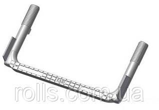 SCSS 25х152х327 Скоба ходовая опорная противоскользящая для колодцев, сталь футерованная пластиком (Чехия)