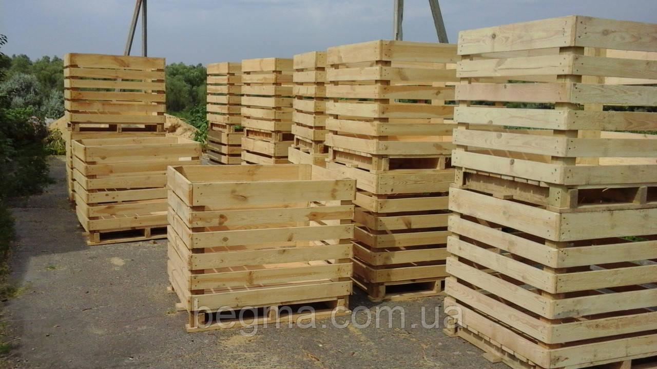 Контейнер овощной, деревянный 1200×1000×1000, фото 1