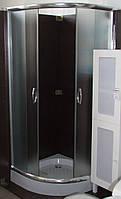 Душевая кабина SANTEH 8001F (80*80*195см) поддон 15см хром/фабрик