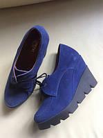 Стильные женские ботиночки TROISROIS из натурального турецкого замша